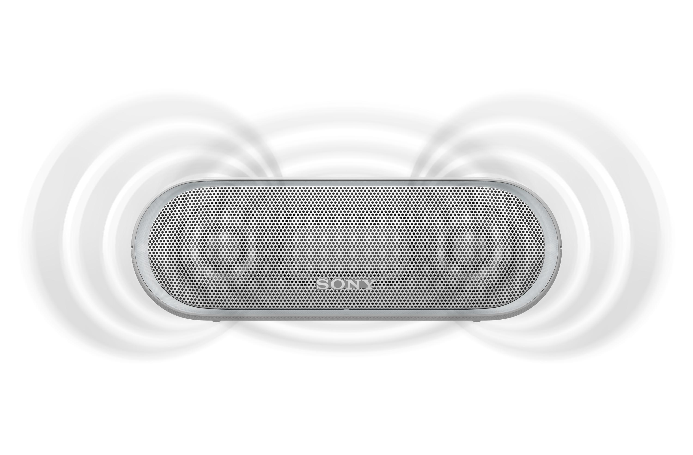 SONY SRS-XB20W Přenosný bezdrátový reproduktor s technologií Bluetooth, White