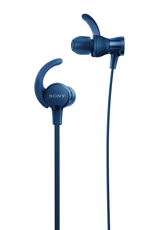 SONY MDR-XB510AS Sluchátka ACTIVE - In ear Sluchátka do uší odolná proti postříkání - Blue