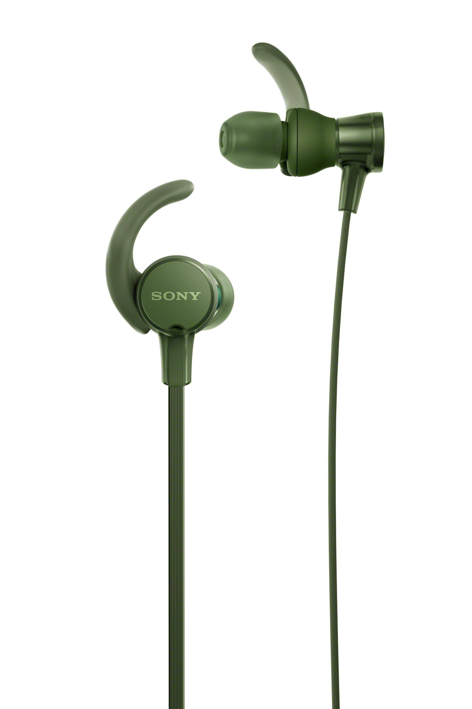 SONY MDR-XB510AS Sluchátka ACTIVE - In ear Sluchátka do uší odolná proti postříkání - Green