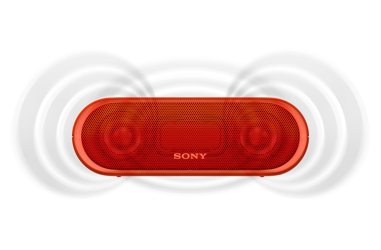 SONY SRS-XB20R Přenosný bezdrátový reproduktor s technologií Bluetooth, Red
