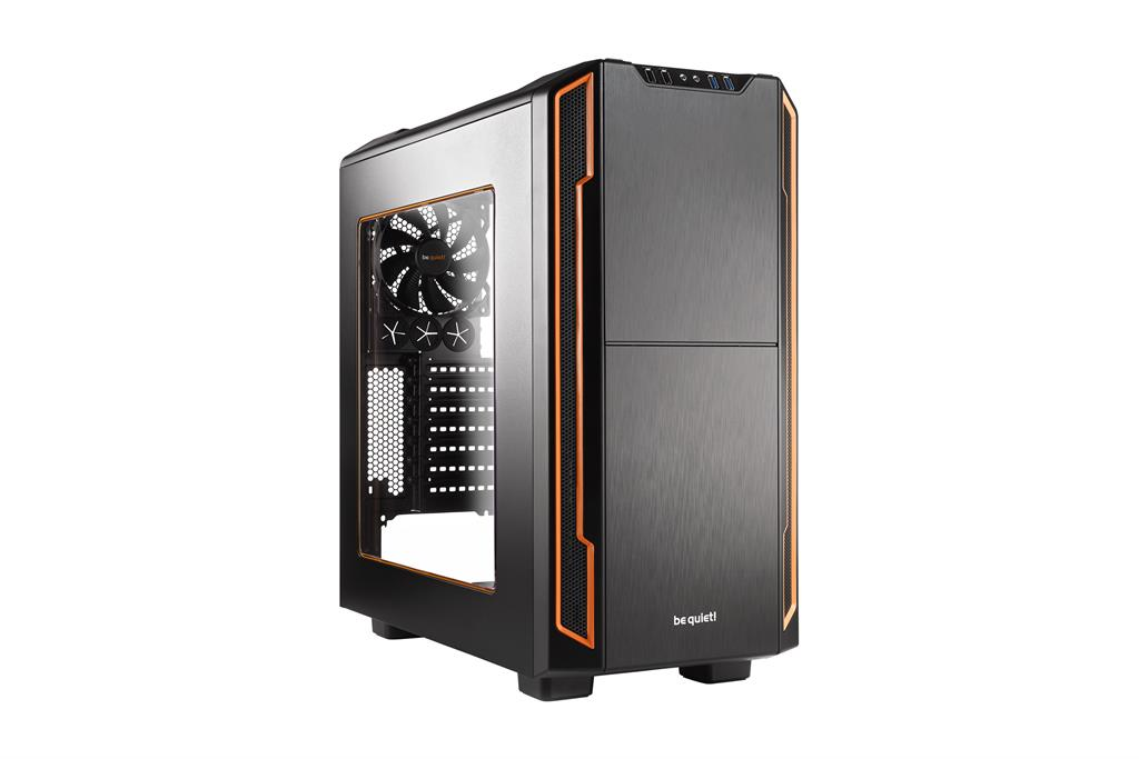 be quiet! Silent Base 600 window, orange, ATX, micro-ATX, mini-ITX case
