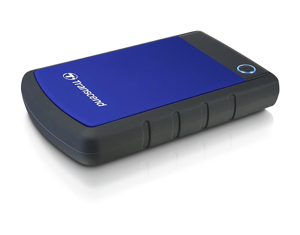 """TRANSCEND 1TB StoreJet 25H3B, USB 3.0, 2.5"""" Externí odolný hard disk, černo/modrý"""