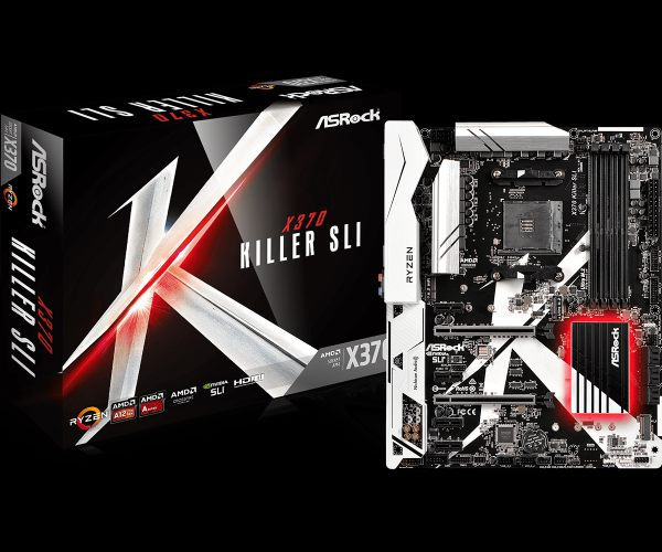 ASRock MB Sc AM4 X370 Killer SLI, AMD X370, 4xDDR4, VGA
