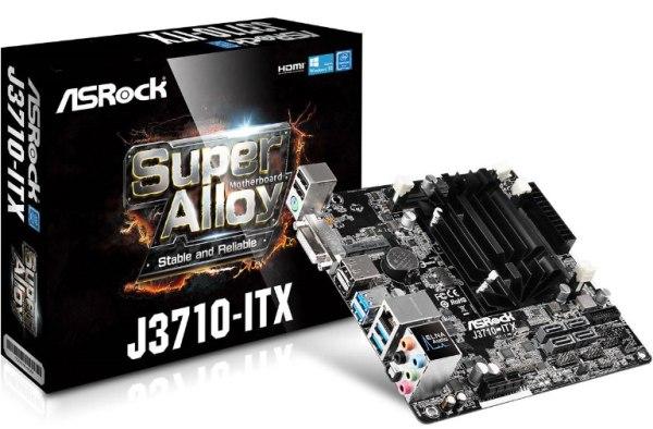 ASROCK MB J3710-ITX s integrovaným intel CPU quad-core J3710 (2x DDR3 SO-DIMM, DVI +HDMI + DPort, PCI-E, 4xSATA3, 7.1, GLAN, miniI