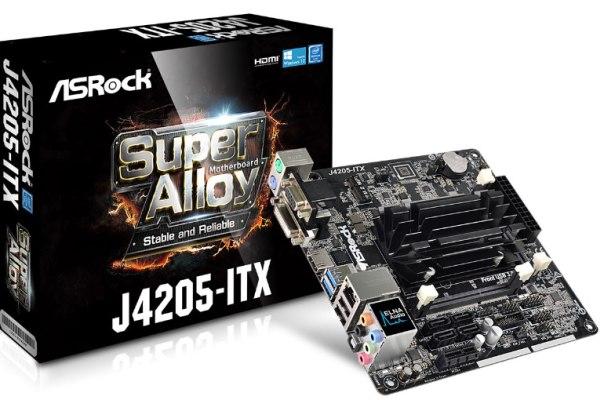 ASROCK MB J4205-ITX s integrovaným intel CPU quad-core J4205 (2x DDR3 SO-DIMM, VGA +DVI +HDMI, PCI-E + M.2, 2xSATA3, 7.1, GLAN, mi