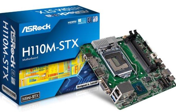 ASROCK MB H110M-STX (intel 1151, 2x DDR4 so-dimm, VGA+HDMI+DPort, SATA3+M.2, USB3, GLAN, miniSTX