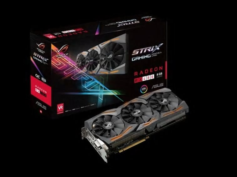 ASUS STRIX-RX480-O8G-GAMING, 8GB GDDR5 (256 bit), 2x HDMI, DVI, 2x DP