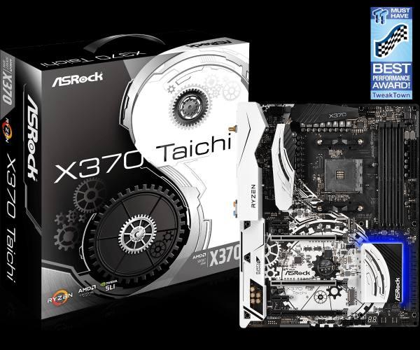 ASRock X370 Taichi, AM4, DDR4 2667, 2 PCIe 3.0 x16, 10 SATA3, 2 USB 3.1