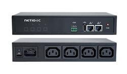 NETIO 4 modul napájecích zásuvek 4 x IEC320/8A, 2x LAN