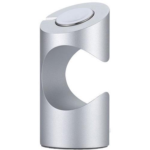JustMobile TimeStand nabíjecí stojan pro Apple Watch, stříbrný