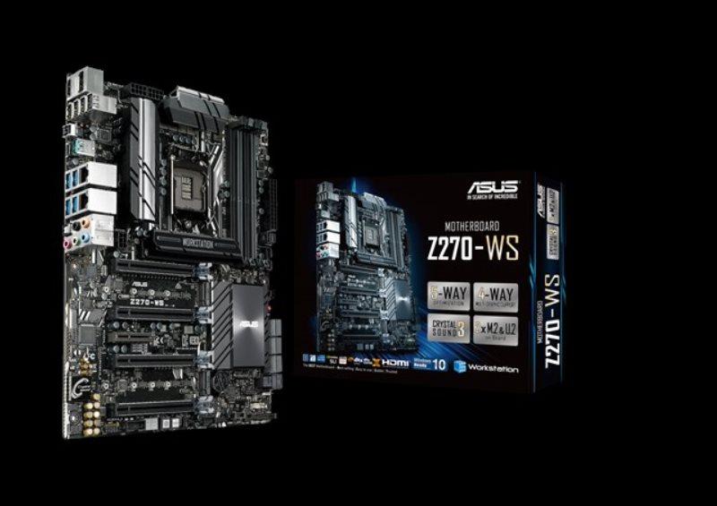ASUS Z270-WS, 1151, Z270, 4x DDR4, 4 x PCIe 3.0/2.0 x16, 1 x M.2 x4 Socket 3, ATX