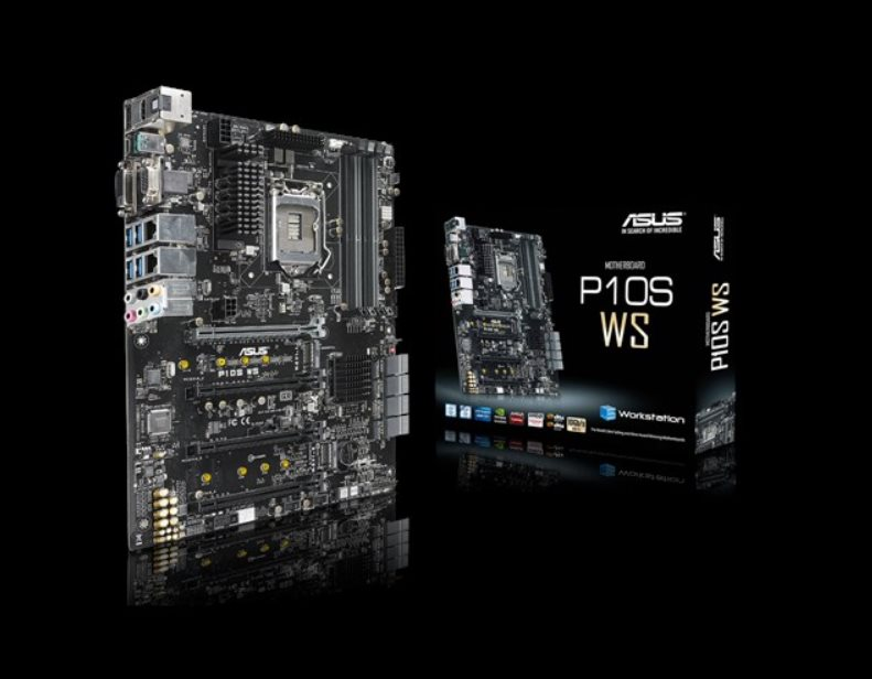 ASUS P10S-WS, 1151, C232, 4x DDR4 2133 MHz, 2 x M.2 Socket 3*3, Intel I210, ATX