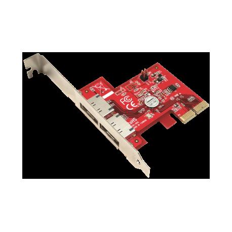 Addonics 2-portový eSATA 6G PCIe 2X řadič