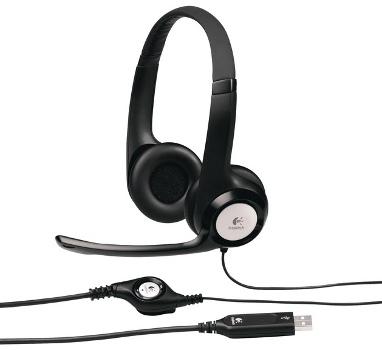 Logitech Headset H390 USB, stereo sluchátka s mikrofonem