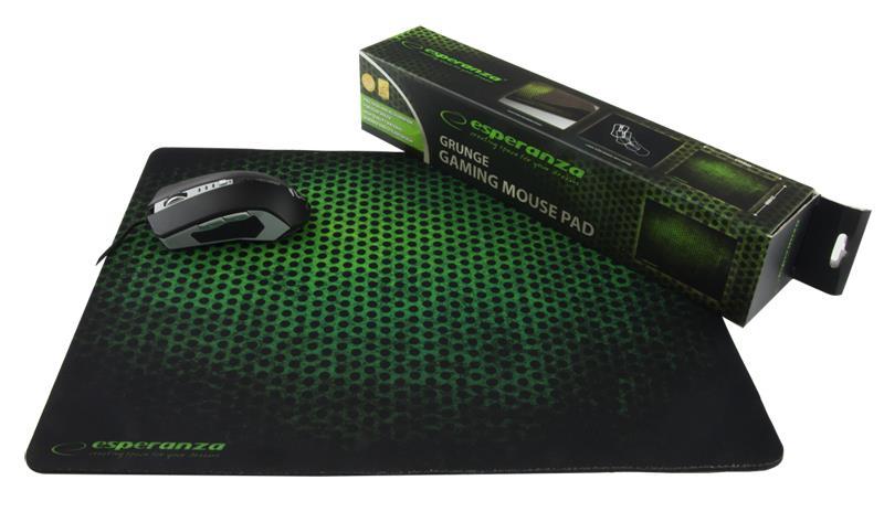 Esperanza EA146G GAMING podložka pod myš (440 x 354 x 4 mm), černo-zelená