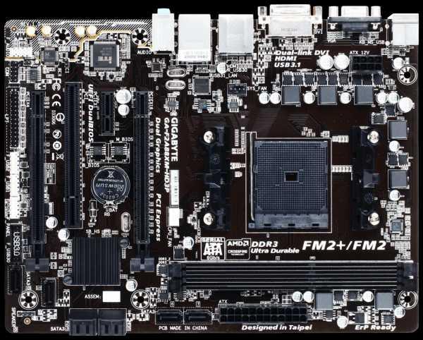 GIGABYTE MB Sc FM2+ GA-F2A88XM-HD3P, AMD A88X, 2xDDR3, VGA, DVI, HDMI, mATX