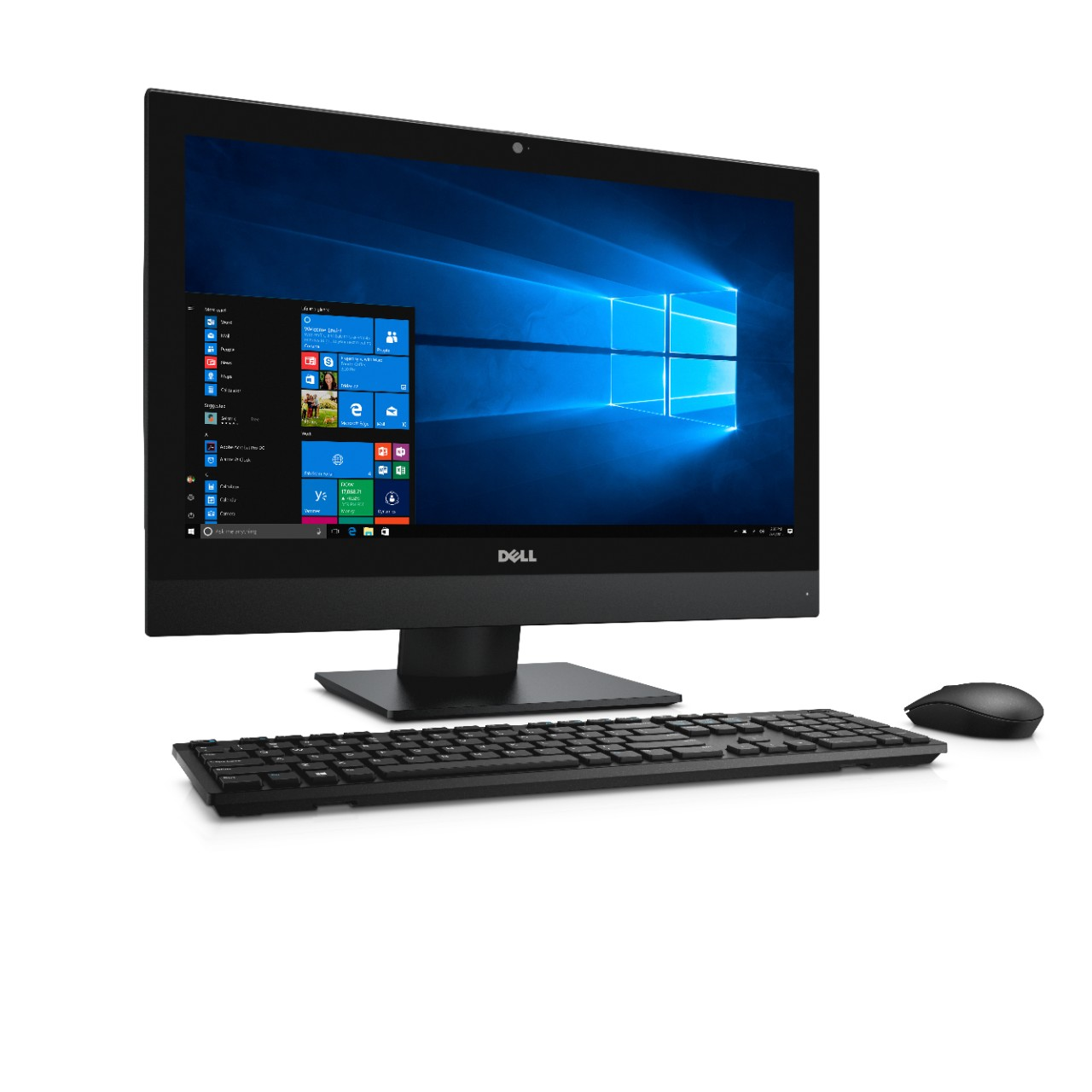 "Dell Optiplex 5250 AIO 21.5"" FHD i5-7500/8G/256GB SSD/MCR/HDMI/DP/DVD RW/WLAN+BT/W10P/3RNBD/Černý"