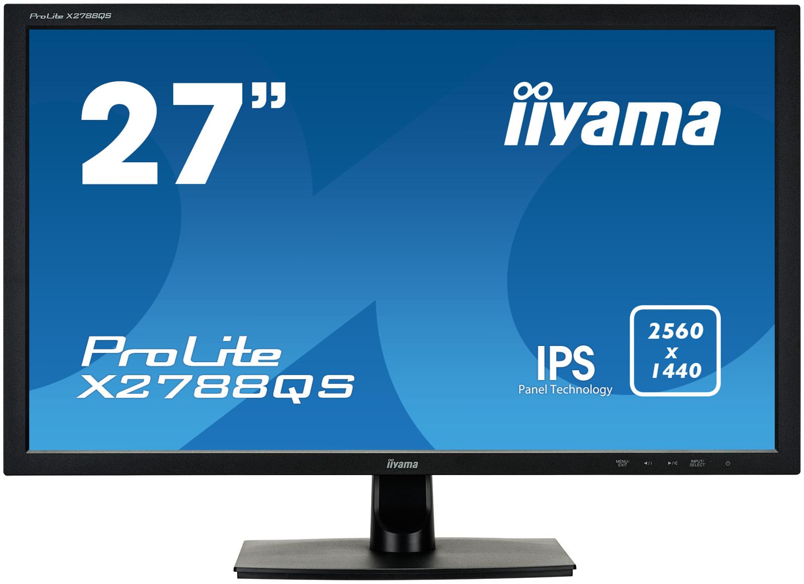 "27"" LCD iiyama X2788QS-B1 - IPS,5ms, 350cd/m2, 2560x1440,DVI,HDMI,DP,repro"