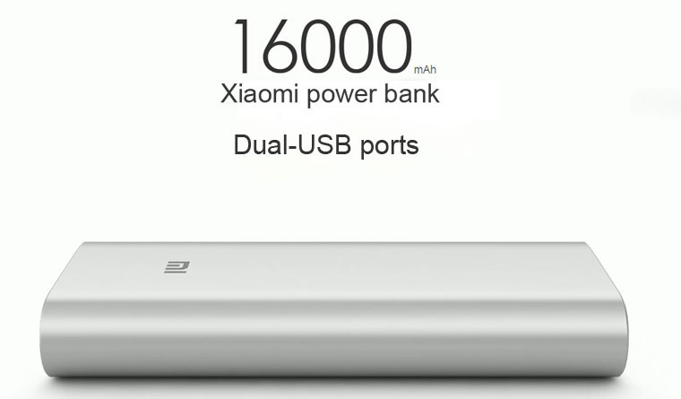 BAZAR_Xiaomi Power Bank 16000 mAh, 2x USB, silver
