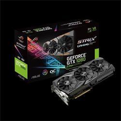 ASUS ROG-STRIX-GTX1080-O8G-11GBPS 8GB/256-bit, GDDR5X, DVI, 2xHDMI, 2xDP