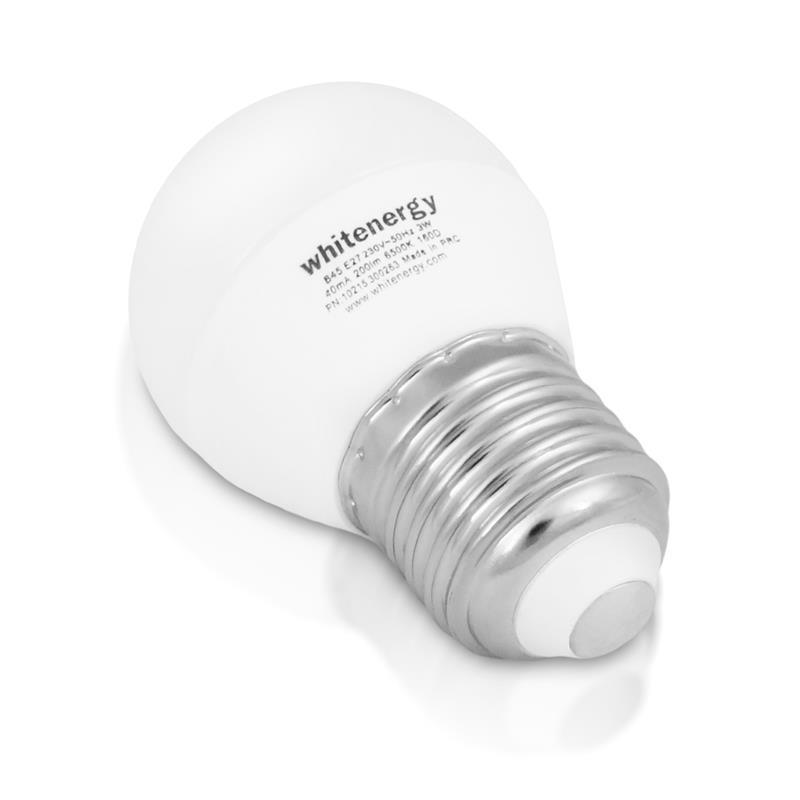 Whitenergy LED žárovka   10xSMD2835  B45   E27   5W   230V  studená bílá  mléko