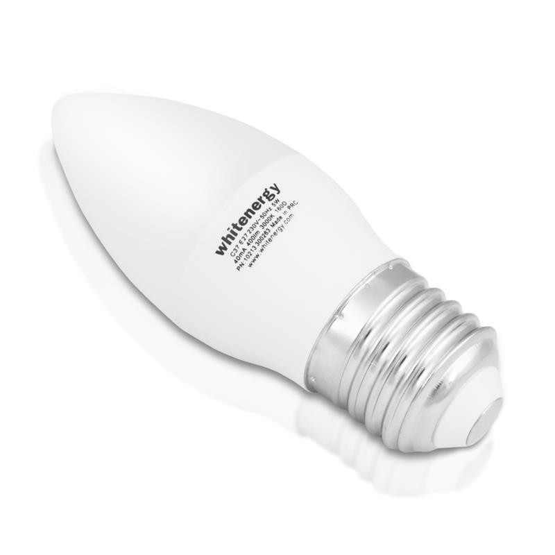 Whitenergy LED žárovka   10xSMD2835  C37   E27   5W   230V  studená bílá  mléko