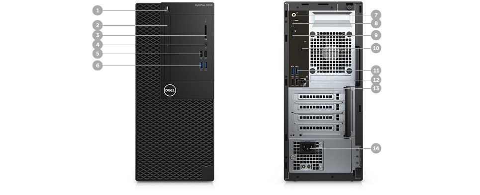 DELL OptiPlex MT 3050 Core i5-7500/8GB/256GB/Intel HD/Win 10 Pro 64bit/3Yr NBD