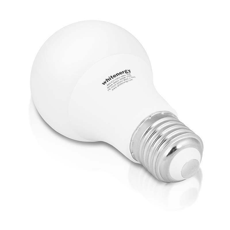 Whitenergy LED žárovka  E27 6 SMD 2835 5.5W 230V  mléko   studená bílá   A60