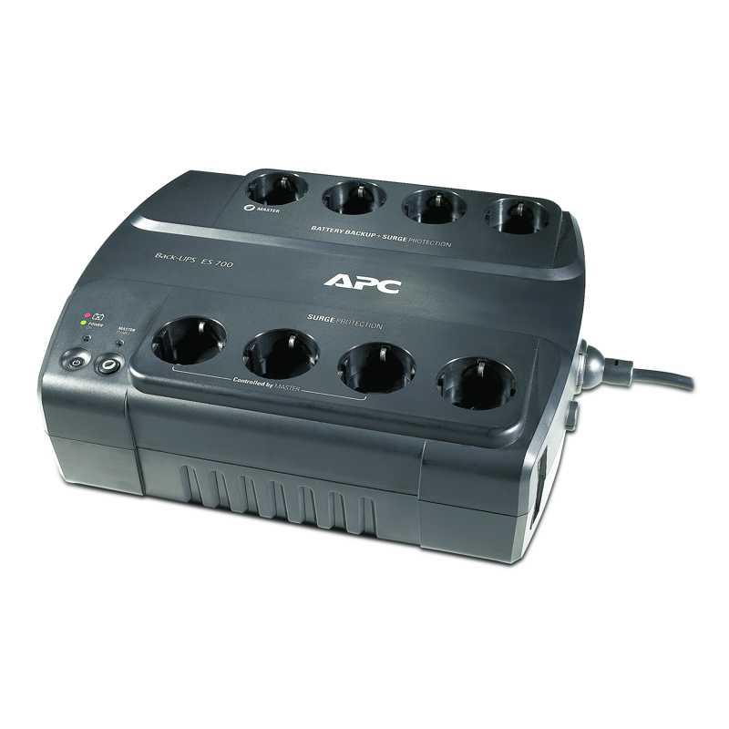 APC Power-Saving Back-UPS ES 700VA, 230V, 8 Ausgänge CEE 7/7
