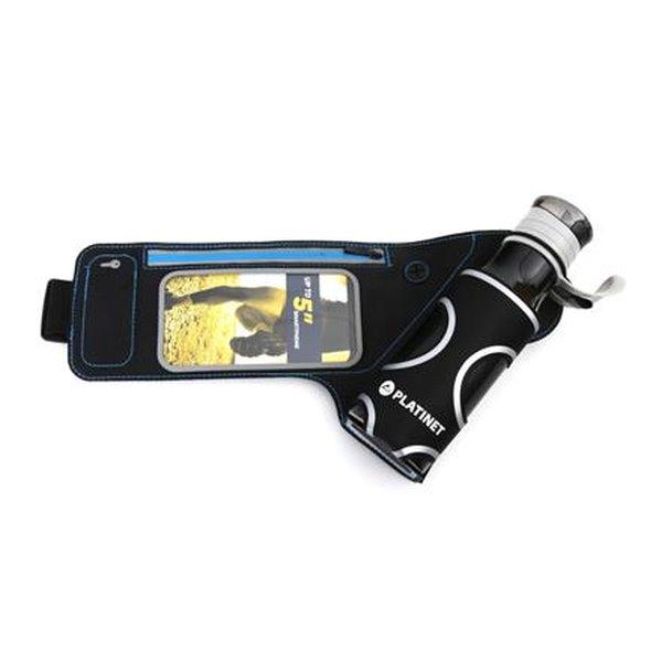 PLATINET pás k běhání s oknem pro smartphone a lahví 450 ml na vodu