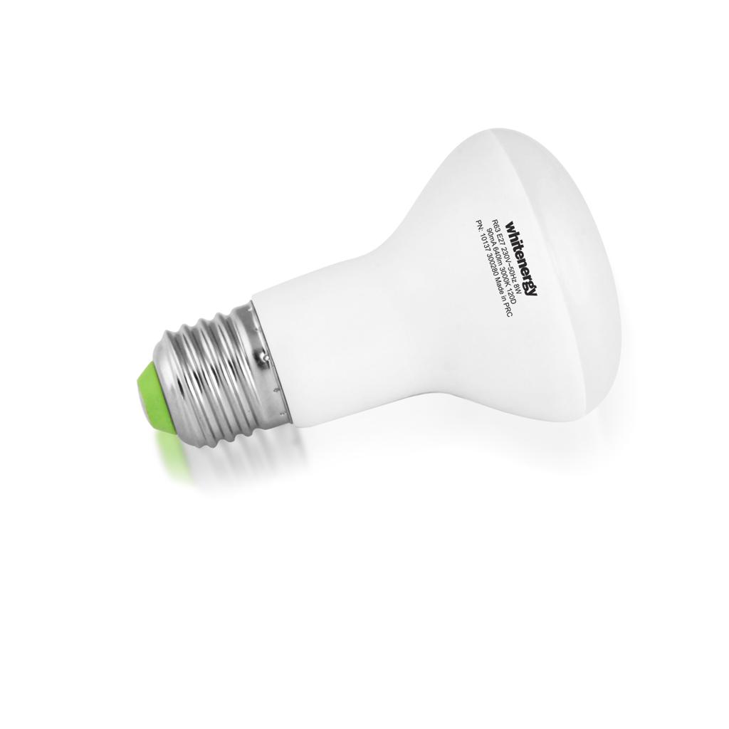 WE LED žárovka SMD2835 R63 E27 8W bílá mléčná