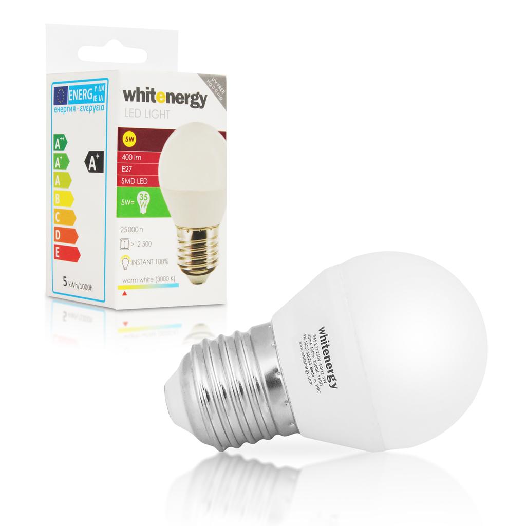 WE LED žárovka SMD2835 B45 E27 5W teplá bílá
