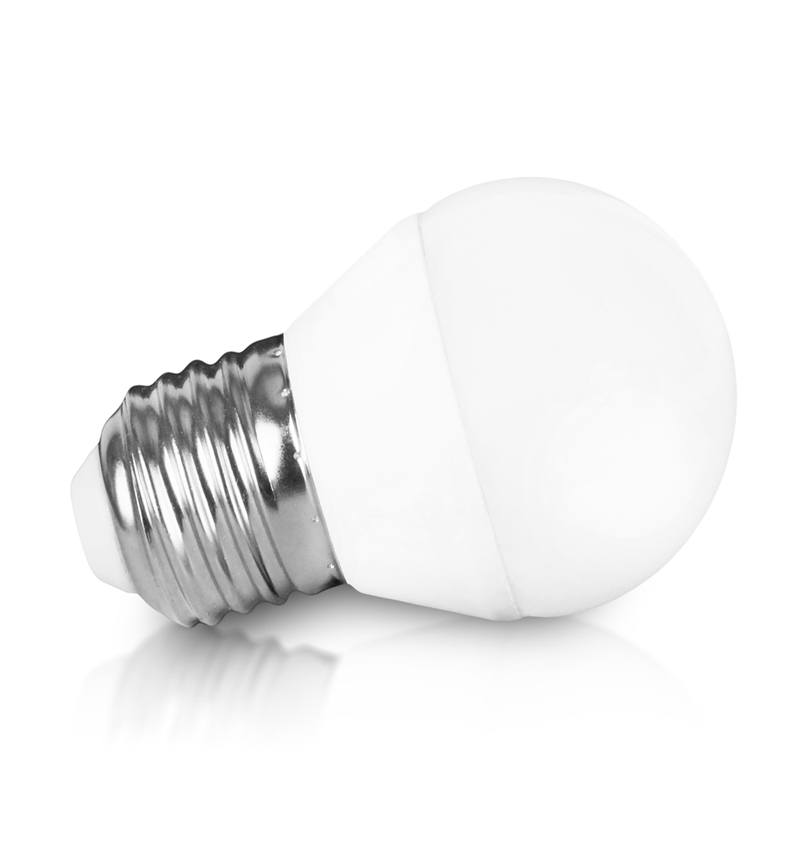 WE LED žárovka SMD2835 B45 E27 3W bílá mléčná