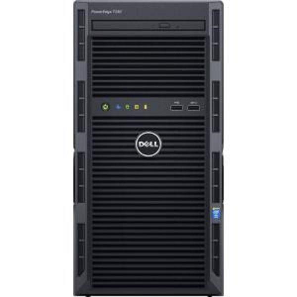 DELL PE T130/E3-1220v5/8GB/2x1TB NLSAS/DRW/2xGL/R0,1,5/iDrac Bas