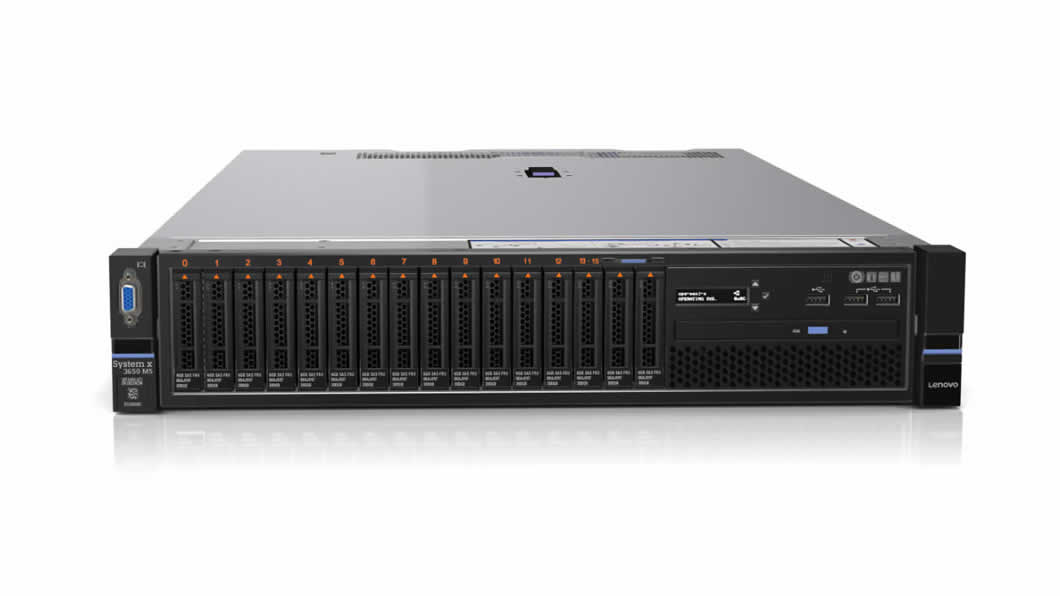 System x Express x3650M5 Xeon 6C E5-2620v3 85W 2.4GHz/15MB/ 1x8GB, 2x300GB HS 2.5in(8), M5210, LCD, DVD-RW, 2x550W