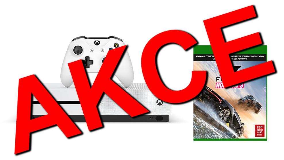 XBOX ONE S 500 GB - akční výprodej! + hra Forza Horizon 3 na Blu-ray disku