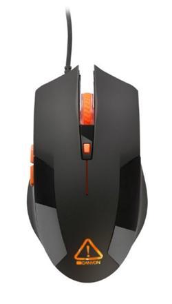 CANYON optická herní myš, nastavitelné DPI 800/1200/1600/2400, LED podsvícení, černá