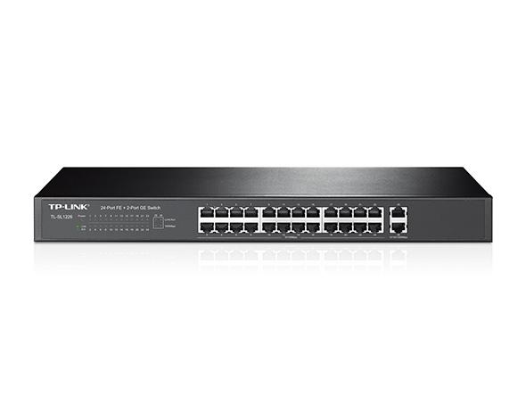 TP-Link TL-SL1226 24x 10/100Mbps + 2x Gb Switch