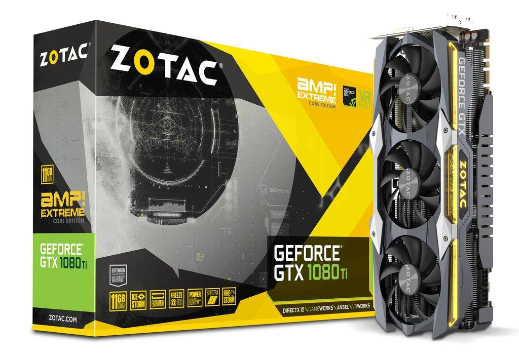ZOTAC GeForce GTX 1080 Ti AMP Extreme Core Edition, 11GB GDDR5X