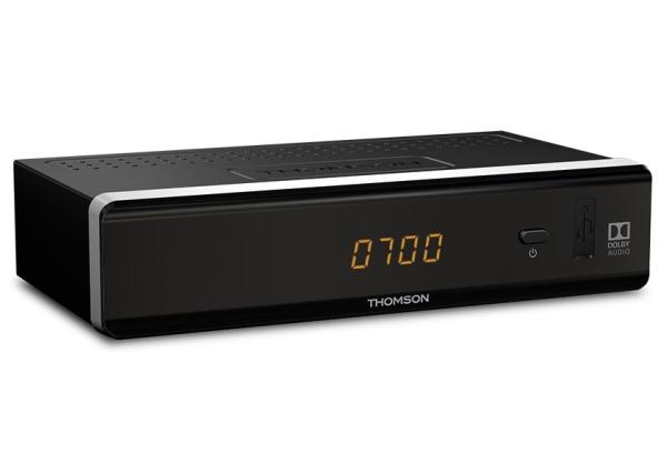 THOMSON DVB-T2 přijímač THT 712/ s displejem/ Full HD/ H265/HEVC/ EPG/ USB/ HDMI/ LAN/ SCART/ černý