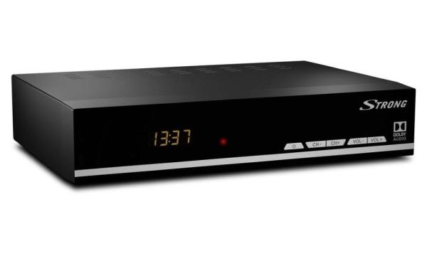 STRONG DVB-S2 přijímač SRT 7007/ s displejem/ Full HD/ EPG/ USB/ HDMI/ LAN/ SCART/ černý