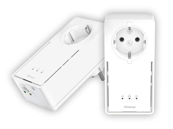 STRONG sada 2 adaptérů Powerline 1200 DUO EU/ 1200 Mbit/s/ 1x LAN/ bílý