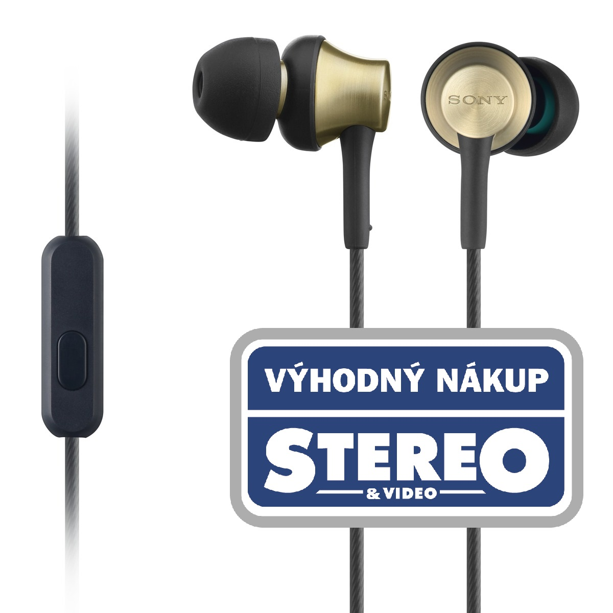 SONY MDR-EX650AP Sluchátka do uší s mikrofonem, rozsah 20 až 20000 Hz
