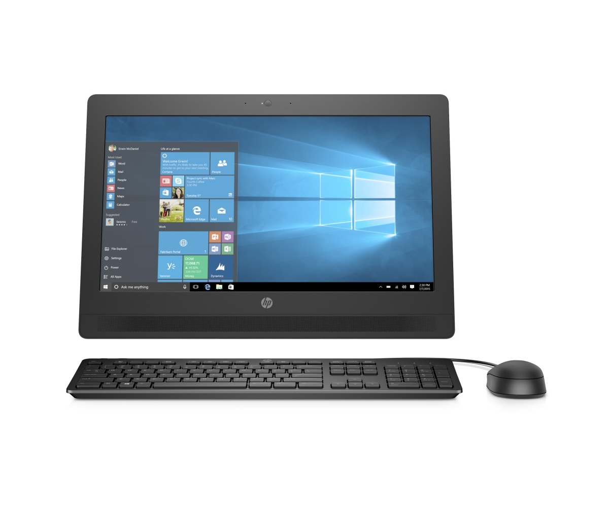 "HP ProOne 400 G2 AiO 20"" G4400T/4GB/500GB/DVD/1NBD/W10P"