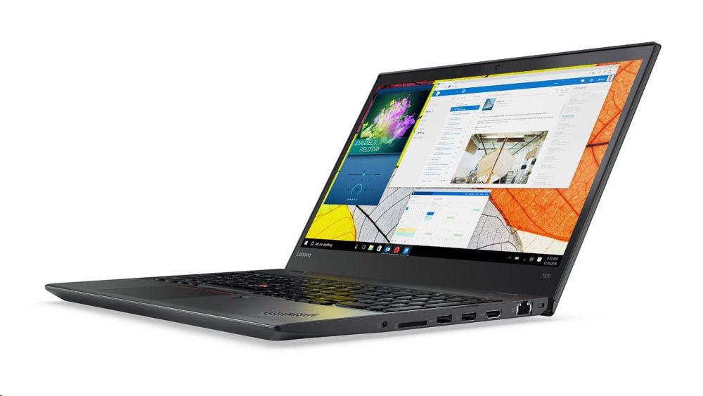 """Lenovo ThinkPad T570 i7-7500U/8GB/256GB SSD/HD Graphics 620/15,6"""" FHD IPS/4G/Win10PRO/black"""