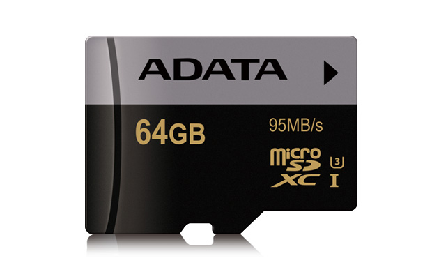 ADATA MicroSDXC 64GB U3 až 95MB/s