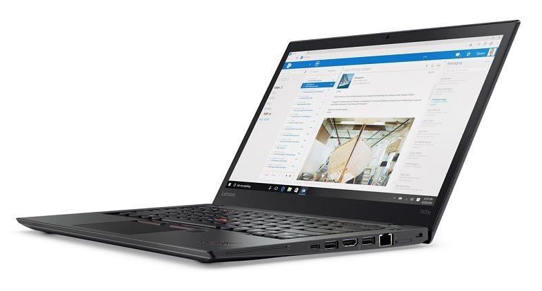 """Lenovo ThinkPad T470s i7-7500U/8GB/256GB SSD/HD Graphics 620/14""""FHD IPS/Win10PRO/Black"""