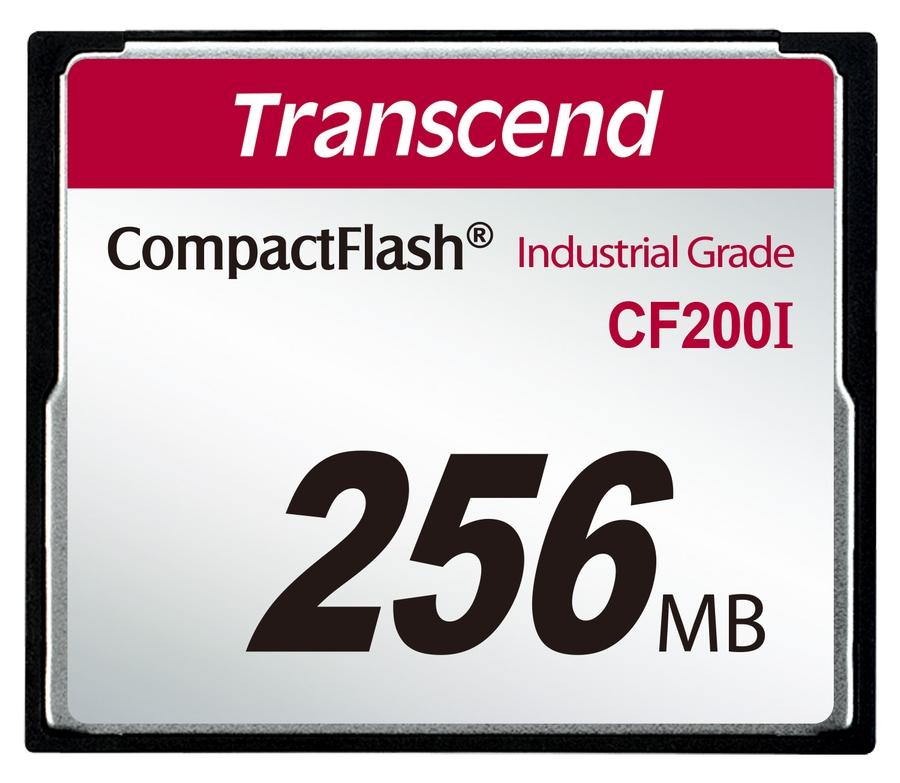 Transcend 256MB INDUSTRIAL TEMP CF200I CF CARD, paměťová karta (SLC)