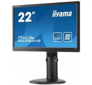 """22""""LCD iiyama B2280HS-B1 - 5ms, 250cd/m2, FullHD, matný, VGA, HDMI, DVI,repro,pivot,výšk.nast.,černý"""
