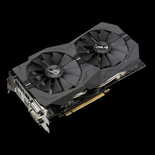 ASUS ROG-STRIX-RX570-O4G-GAMING - 4GB GDDR5 (256 bit), HDMI, 2x DVI, DP